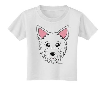 Cute West Highland White Terrier Westie Dog Toddler T-Shirt by TooLoud