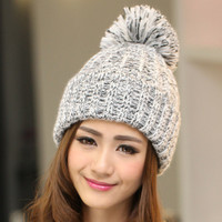 New Fashion Winter Blending Sphere Winter Hat For Women/Ladies 7 Colors