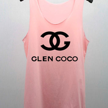 You Go GLEN COCO Pastel Tank Top Women handmade silk screen printing