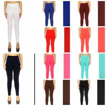 High Waist Fleece Lined Leggings in Sizes S/M and L/XL in 11 Colors