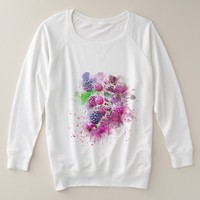 Colorful Fruit Abstract Plus Size Sweatshirt