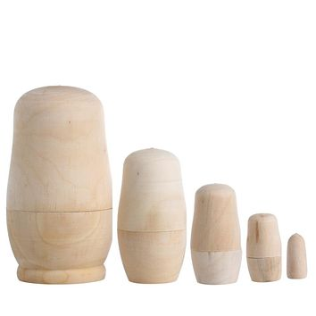 Unpainted Wood  Toy Blank Nesting Dolls Holiday