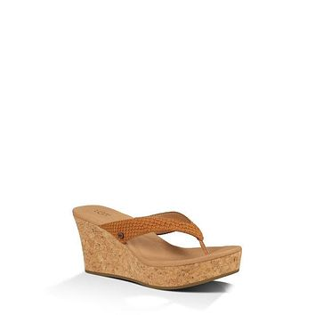 UGG NATASSIA CHESTNUT WEDGES