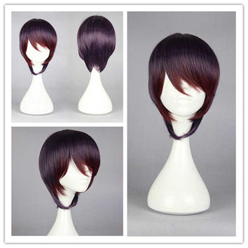 2015 Pop classical 30cm Yurikuma Arashi Ginko Yurishiro beautiful Bob female fashion lolita cosplay wig,Colorful Candy Colored synthetic Hair Extension Hair piece 1pcs WIG-576A