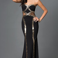 Long Sweetheart Side Illusion Cut-Out Prom Dress