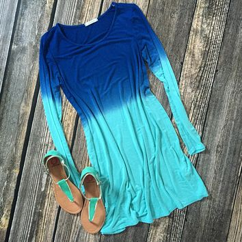 Dyed In Many Colors Tunic Dress