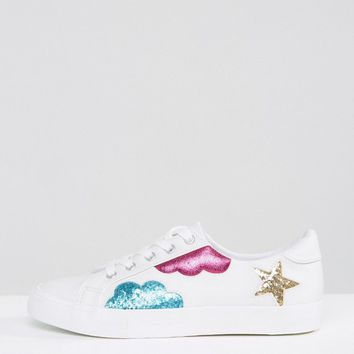 ASOS DIAMOND SKY Lace up Trainers at asos.com