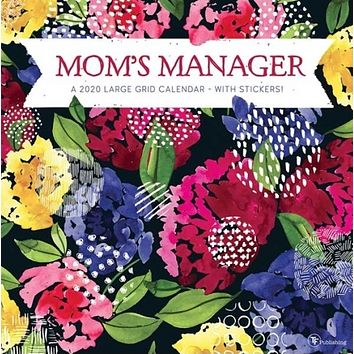 2020 Mom's Manager 12x12 Family Planning Wall Calendar on Matte Paper + Stickers