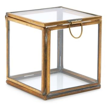 HomArt Pierre Keepsake Glass Box | Nordstrom