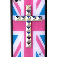 British Flag Silver Cross iPhone 4/4s case