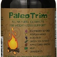 PaleoTrim All Natural Weight Loss Pills w/ Raspberry Ketones, African Mango, Acai, Green Tea, And More All In One Pill - 60 Capsules