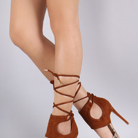 Shoe Republic LA Cuff Cutout Snake Pump