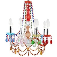 Multi-colored Royal Acrylic Chandelier
