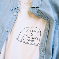Lost 5 Followers Today Tumblr Tee