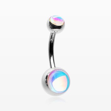 Iridescent Revo Sparkle Belly Button Ring
