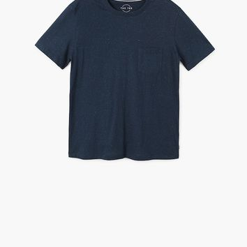 Flecked cotton-blend t-shirt - Man | MANGO Man United Kingdom