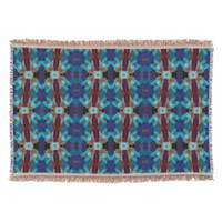 Bohemian ornament in ethno-style, Aztec Throw