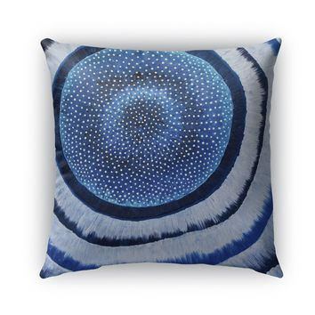 FURRY BLUE ABSTRACT Indoor|Outdoor Pillow By Lokiloni