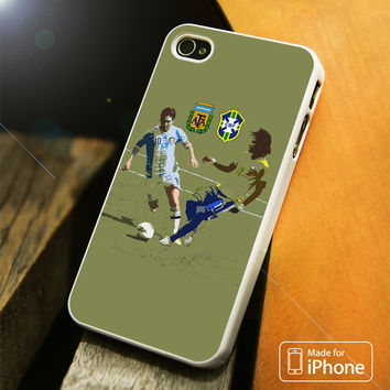 Messi and Neymar Art iPhone 4(S),5(S),5C,SE,6(S),6(S) Plus Case