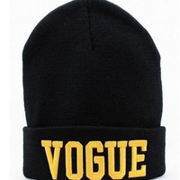 Miss Vogue Knit Beanie Hat