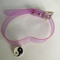 Plastic Pink Choker Choose your Charm