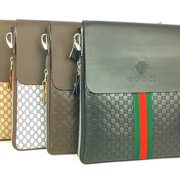 Gucci Single shoulder oblique cross briefcase [305806868509]