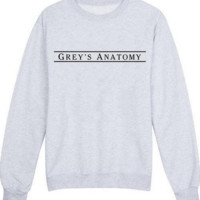 GREY'S ANATOMY Fashion Print Long Sleeve Loose Sweater