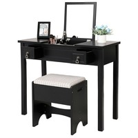 Vanity Set with Flip Top Mirror
