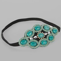 Women's Stone Headbandin Black/Turquoise by Daytrip.