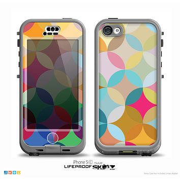 The Overlaping Colorful Connect Circles Skin for the iPhone 5c nüüd LifeProof Case
