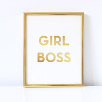 Printable Wall Art Prints, Printable Quotes, Digital Print, Digital Download, Urban Outfitters, Modern Decor, Kate Spade, Girl Boss Print