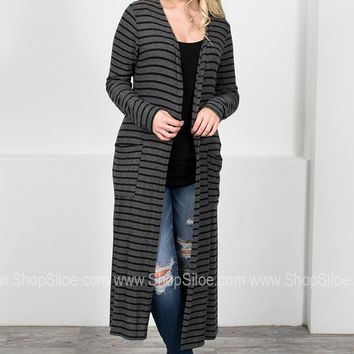 Sully Charcoal Maxi Cardigan
