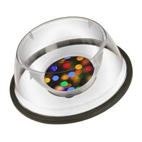 Multicolored Christmas lights. Bowl