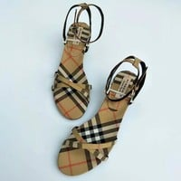 Burberry Women Fashion Sandals High Heels Shoes
