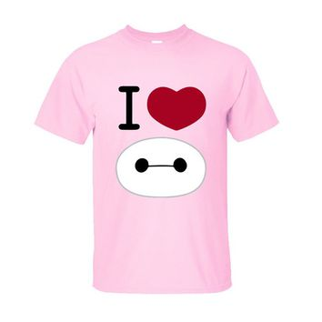CRAZY POMELO I Love Baymax Statement Men's T-shirt