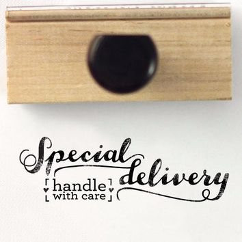Stamp - Special delivery, handle with care