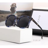GUCCI Popular Women Men Casual Summer Style Sun Shades Eyeglasses Glasses Sunglasses Black(Print Frame) I-A-SDYJ
