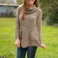 Fireside Fun Sweater, Mocha