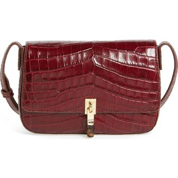 Elizabeth and James Cynnie Flap Croc Embossed Crossbody Bag | Nordstrom
