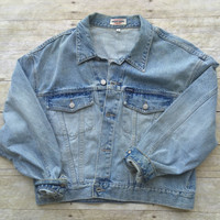 Vintage Light Blue Jean Denim Jacket Guess Jean