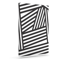 "Louise Machado ""Black Stripes"" Outdoor Canvas Wall Art"