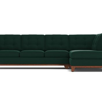 Brentwood 2pc Sectional Sofa - RAF in EVERGREEN VELVET - CLEARANCE
