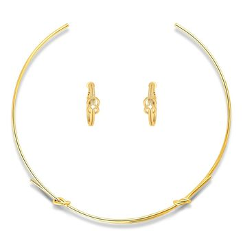 Gold-Tone Love Knot Choker Necklace and Earrings SetBe the first to write a reviewSKU# vs506-02