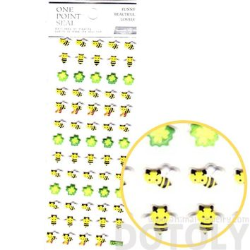 Bumble Bees and Four Leaf Clovers Shaped Puffy Stickers for Scrapbooking