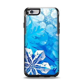 The Winter Abstract Blue Apple iPhone 6 Otterbox Symmetry Case Skin Set