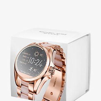 Bradshaw Rose Gold-Tone and Acetate Smartwatch | Michael Kors