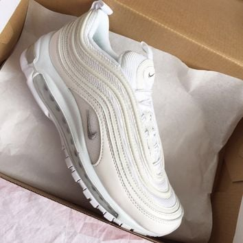 Nike Air Max 97 OG Pure white full palm air cushion running shoes
