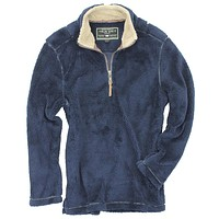 Pebble Pile Pullover 1/2 Zip in Vintage Blue by True Grit - FINAL SALE