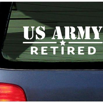 US Army Retired  Automobile Car Window Ipad Tableet PC Notebook Cumputer Decal Sticker