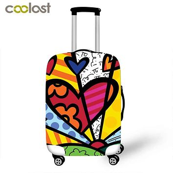 Creative Printing Elastic Luggage Protective Covers for 18-28 Inch Travel Baggage Zipper Cases Cover 3D Portable Suitcase Cover